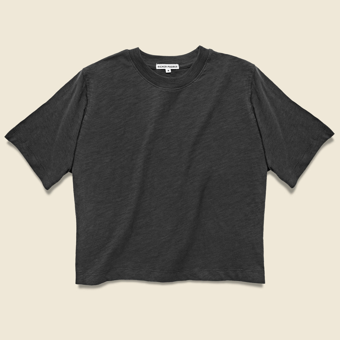 Richer Poorer Grown Up Crop Tee - Black