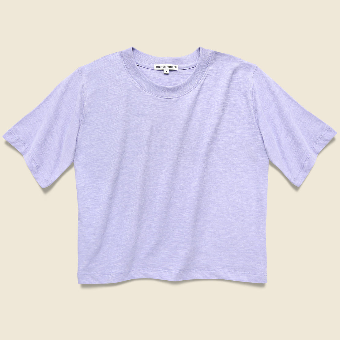 Richer Poorer Grown Up Crop Tee - Electric Violet
