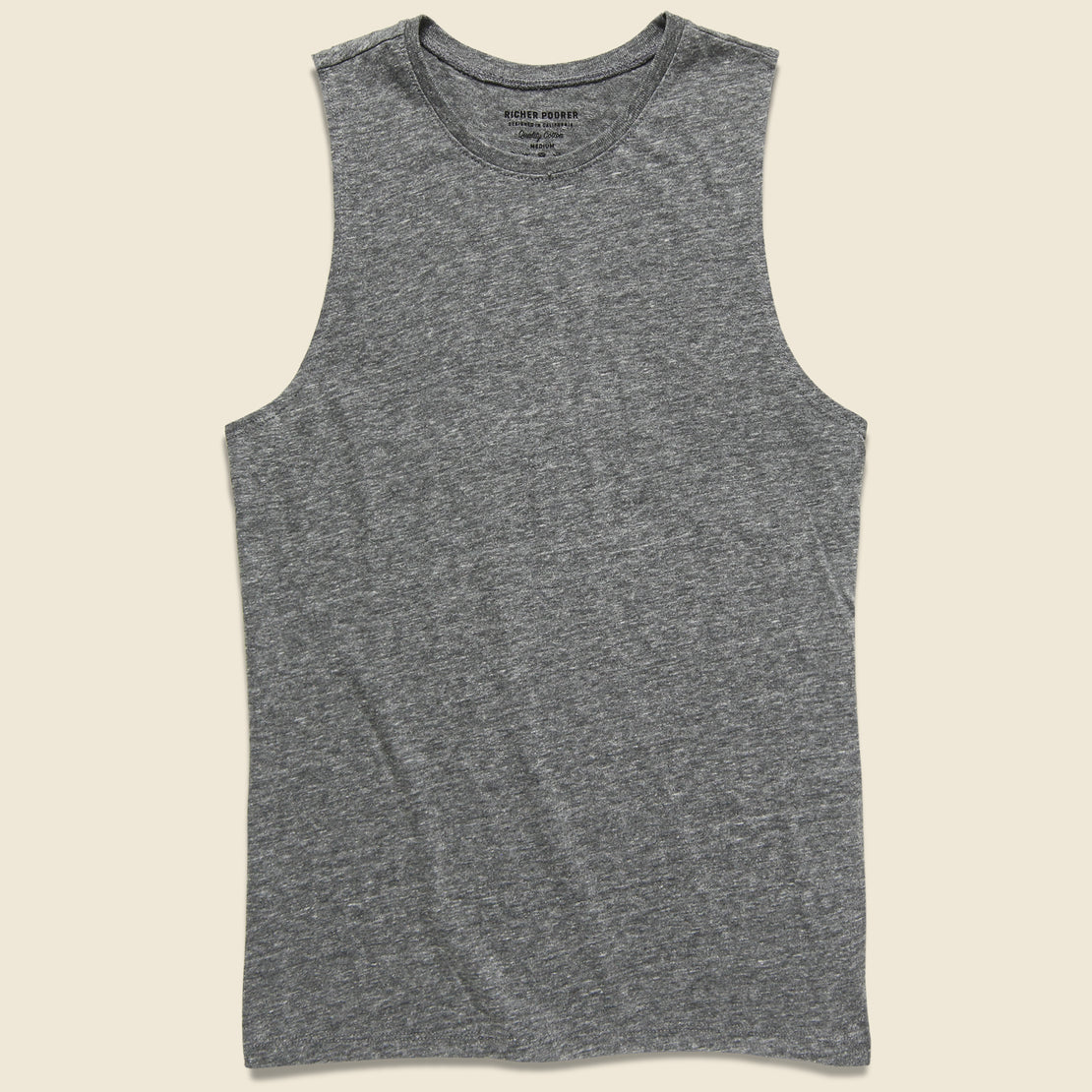 Richer Poorer Muscle Tank - Grey