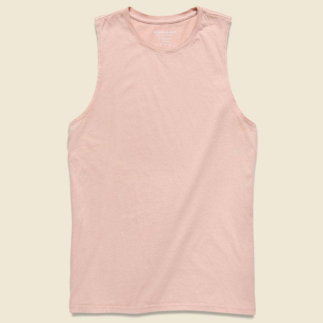Richer Poorer Muscle Tank - Blush