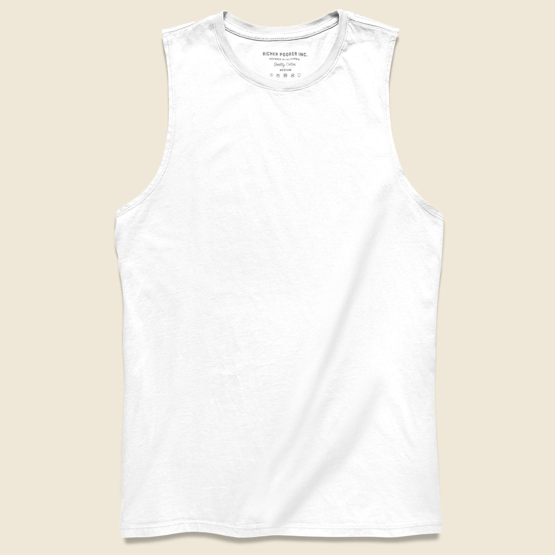 Richer Poorer Muscle Tank - White