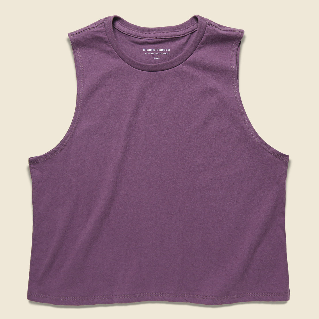 Richer Poorer Cropped Muscle Tank - Lilac