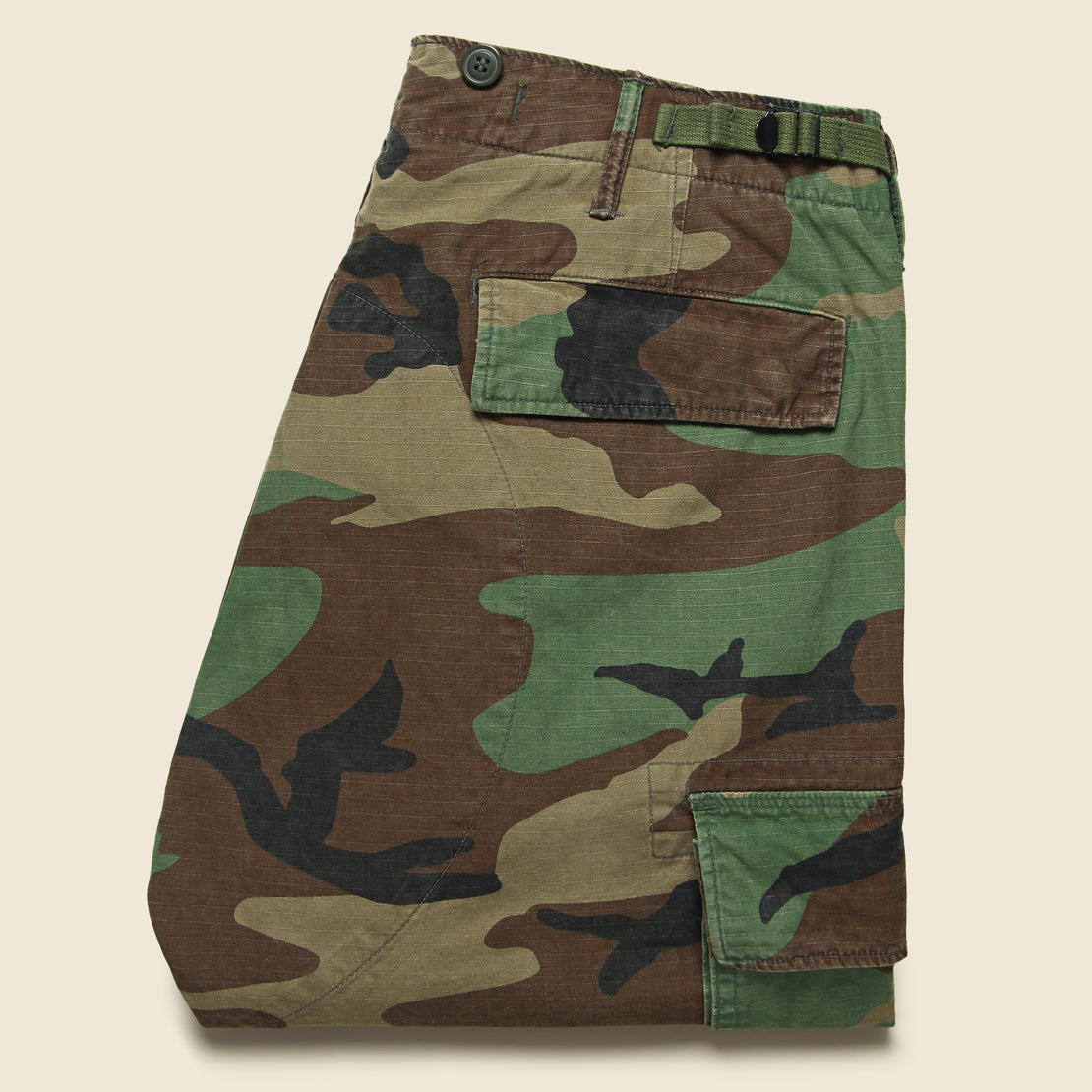 Cotton Surplus Cargo Pant - Woodland Camo