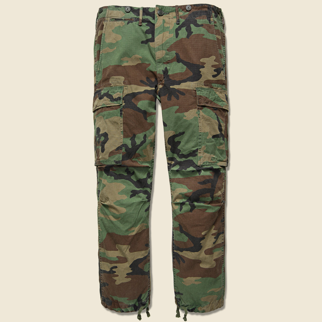 RRL Cotton Surplus Cargo Pant - Woodland Camo