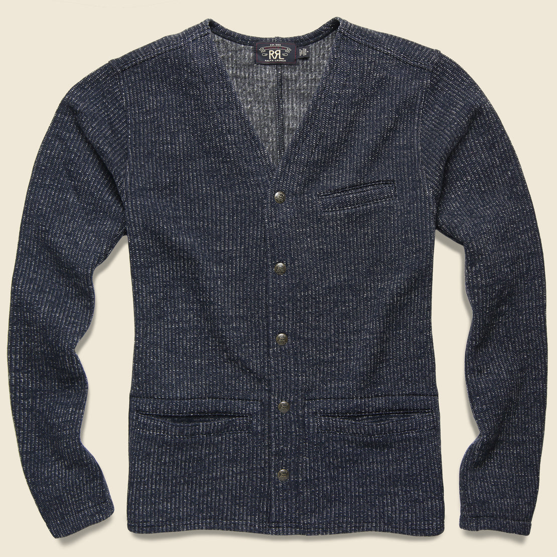 RRL Browns Beach Cardigan - Navy