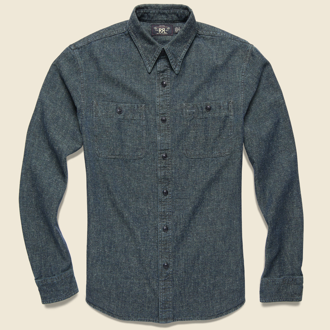 RRL Luke Workshirt - Dusty Blue