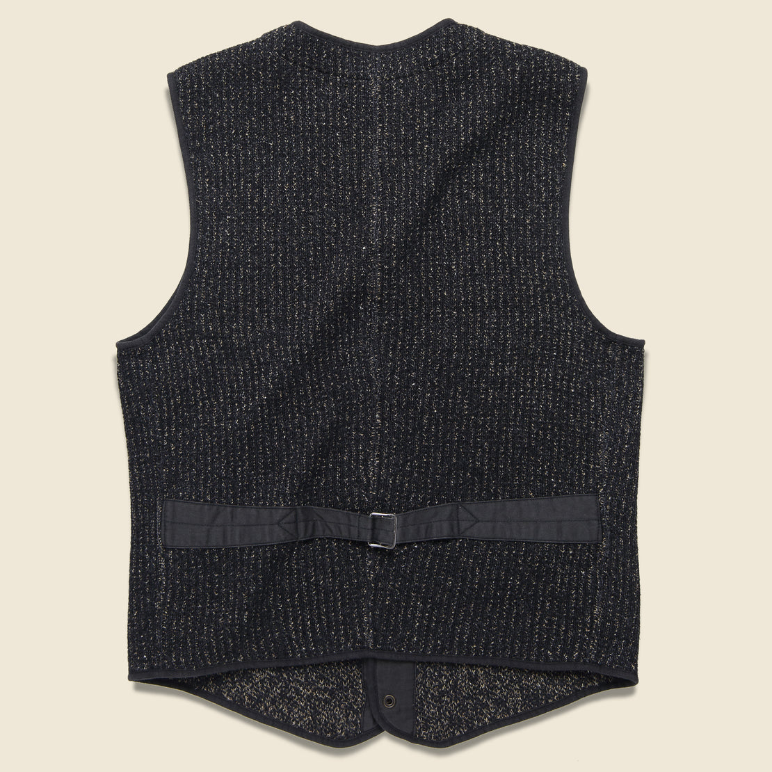 Browns Beach Snap Front Vest - Black Indigo