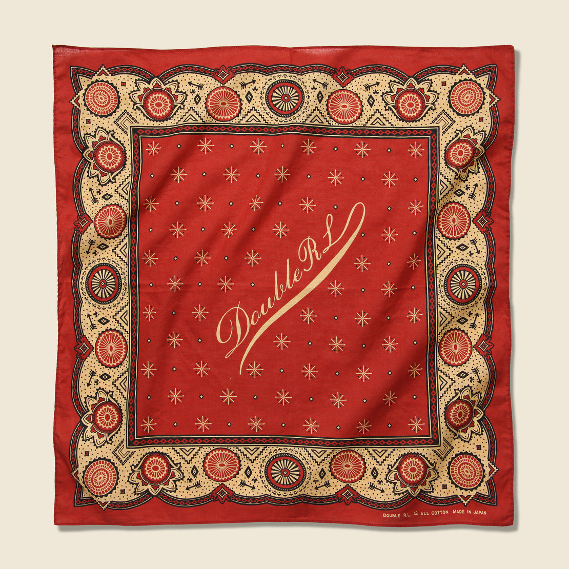 RRL Print Bandana - Red/Cream