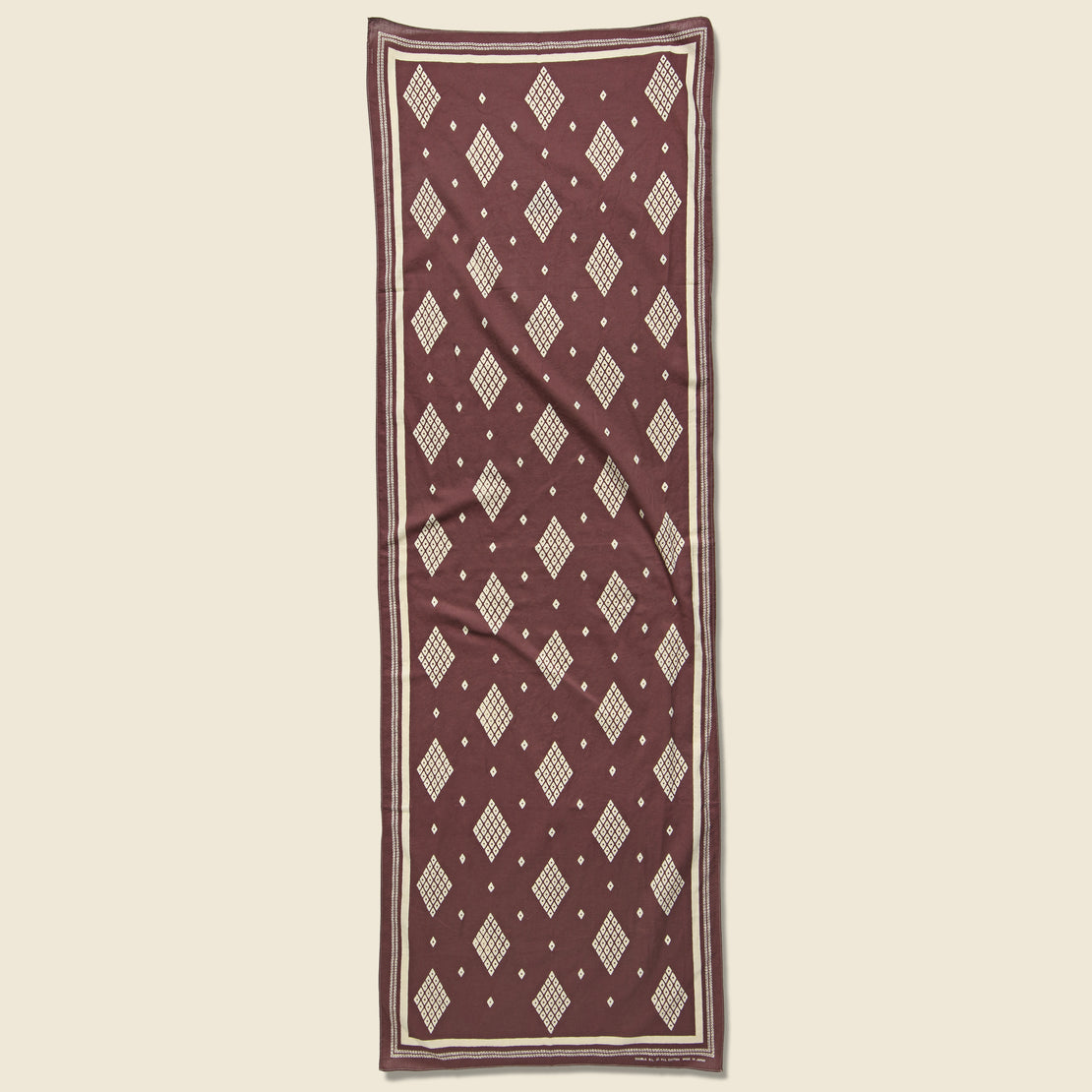 RRL Bandana Scarf - Faded Burgundy/Cream