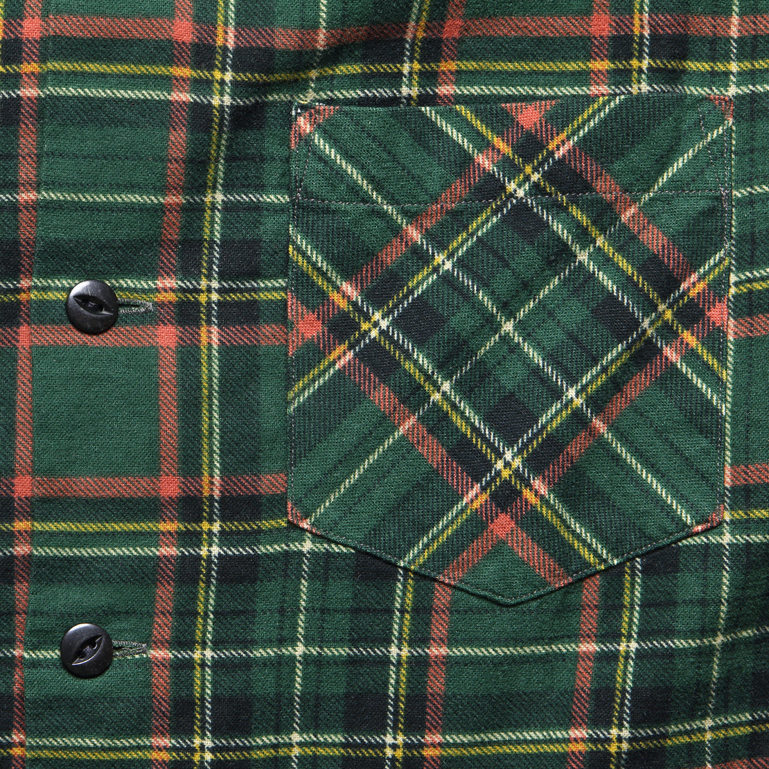 Rodgers Flannel Overshirt - Green