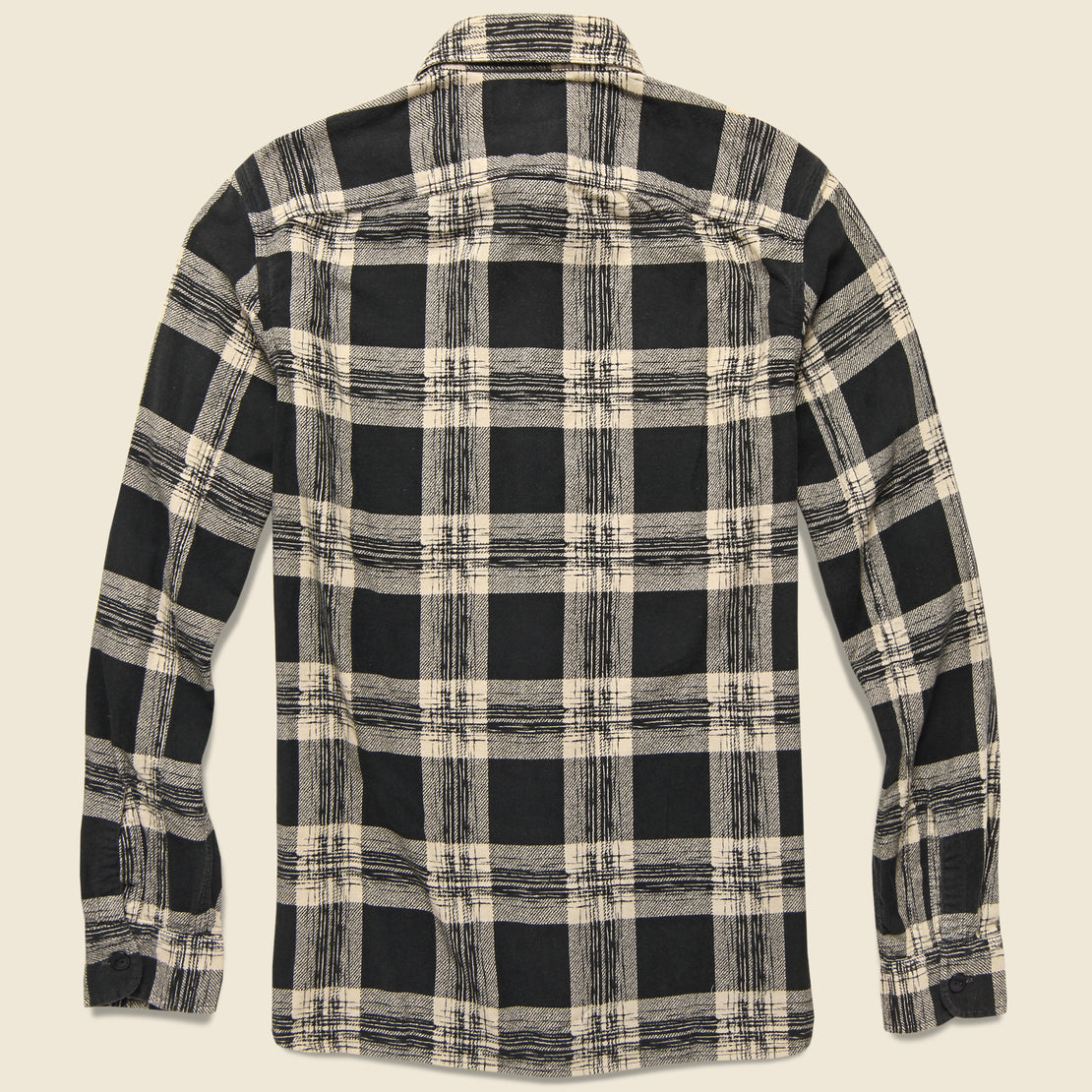 Wallace Plaid Workshirt Flannel - Black/Cream