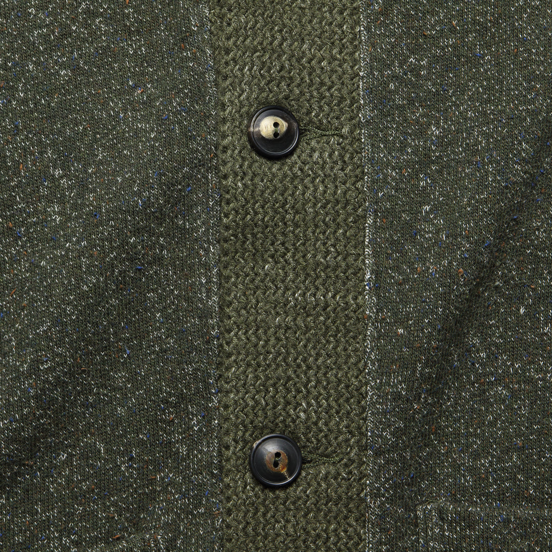 Donegal Shawl Collar Sweater - Olive