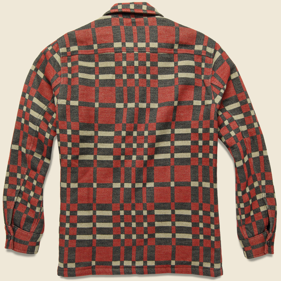 Juno Jacquard Overshirt - Red/Black