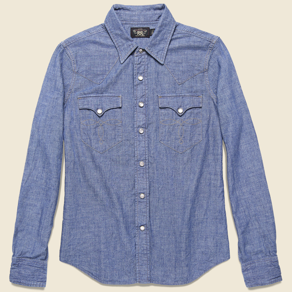 RRL Buffalo Western Shirt - Blue Chambray