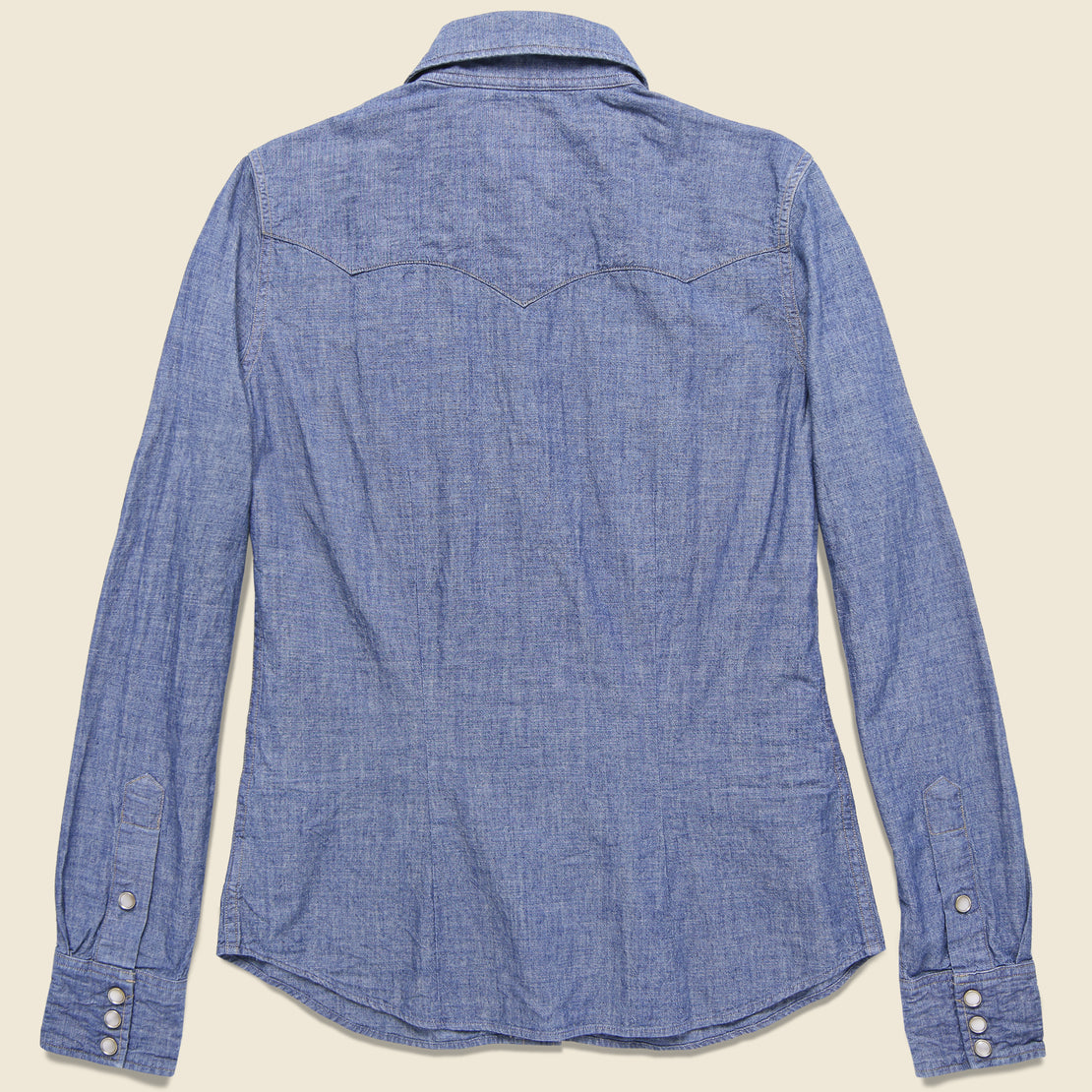 Buffalo Western Shirt - Blue Chambray