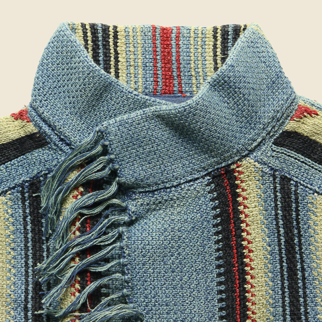Wool/Linen Chimayo Sweater Jacket - Sky Blue