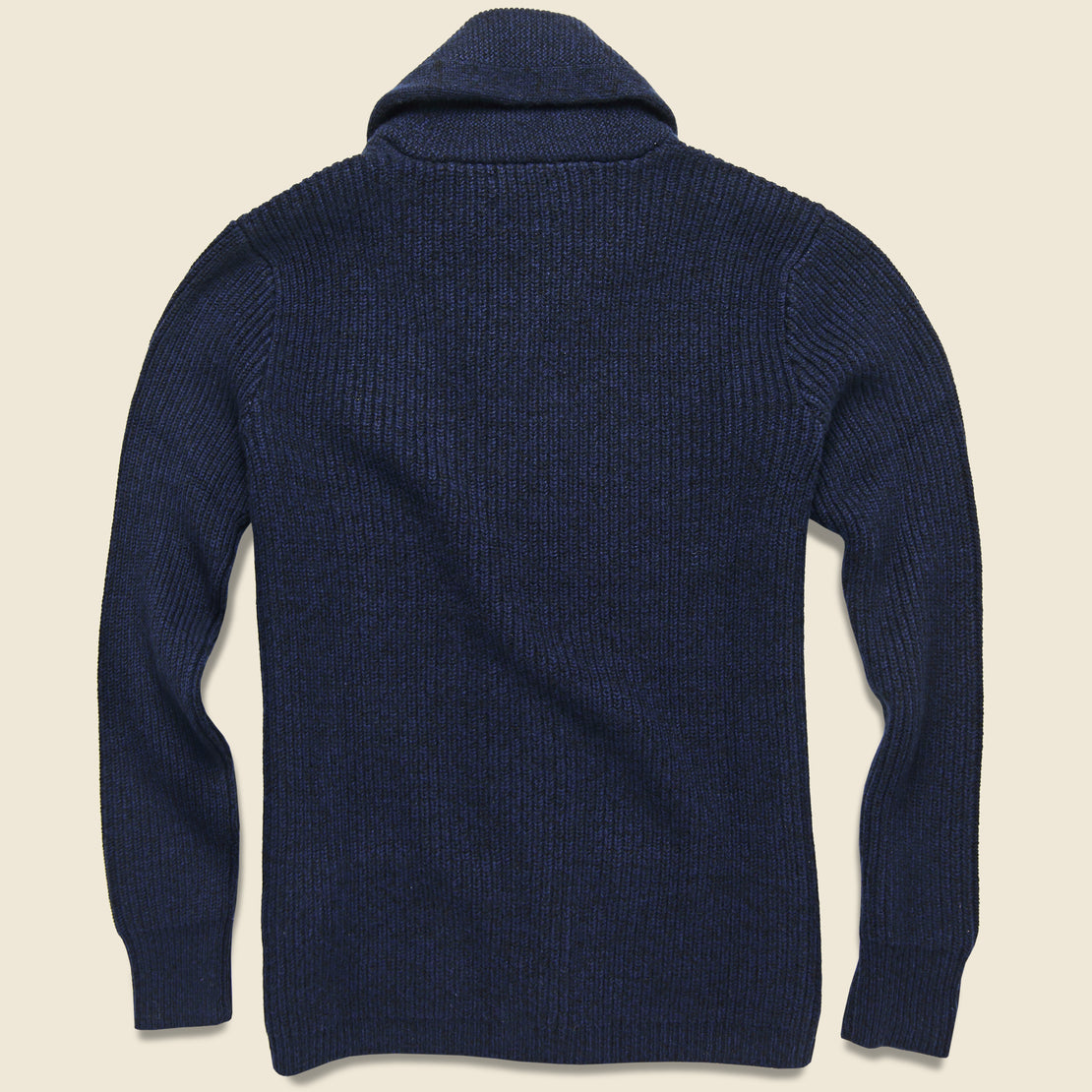 Cashmere Shawl Cardigan - Blue Black
