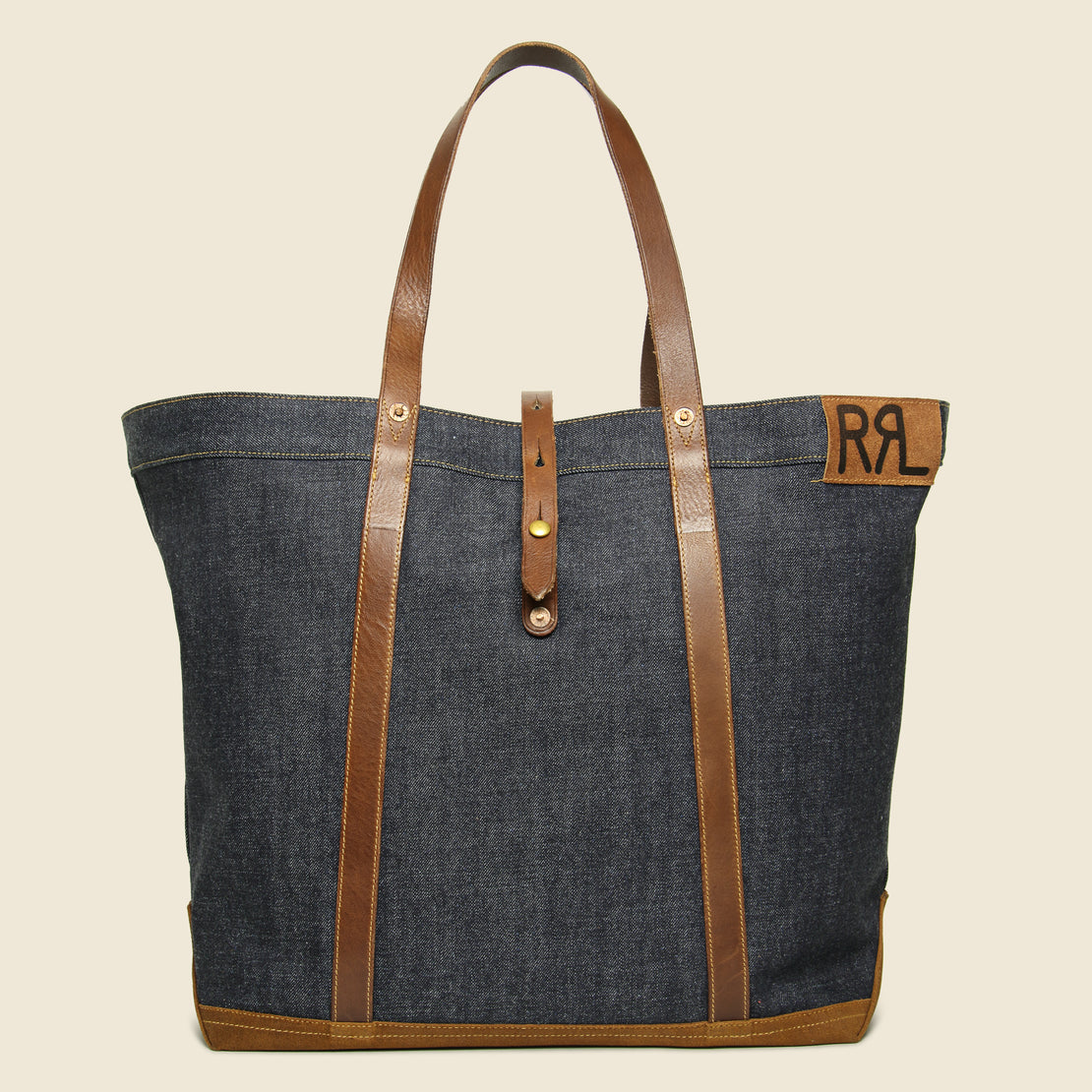 RRL Howard Tote Bag - Denim/Leather