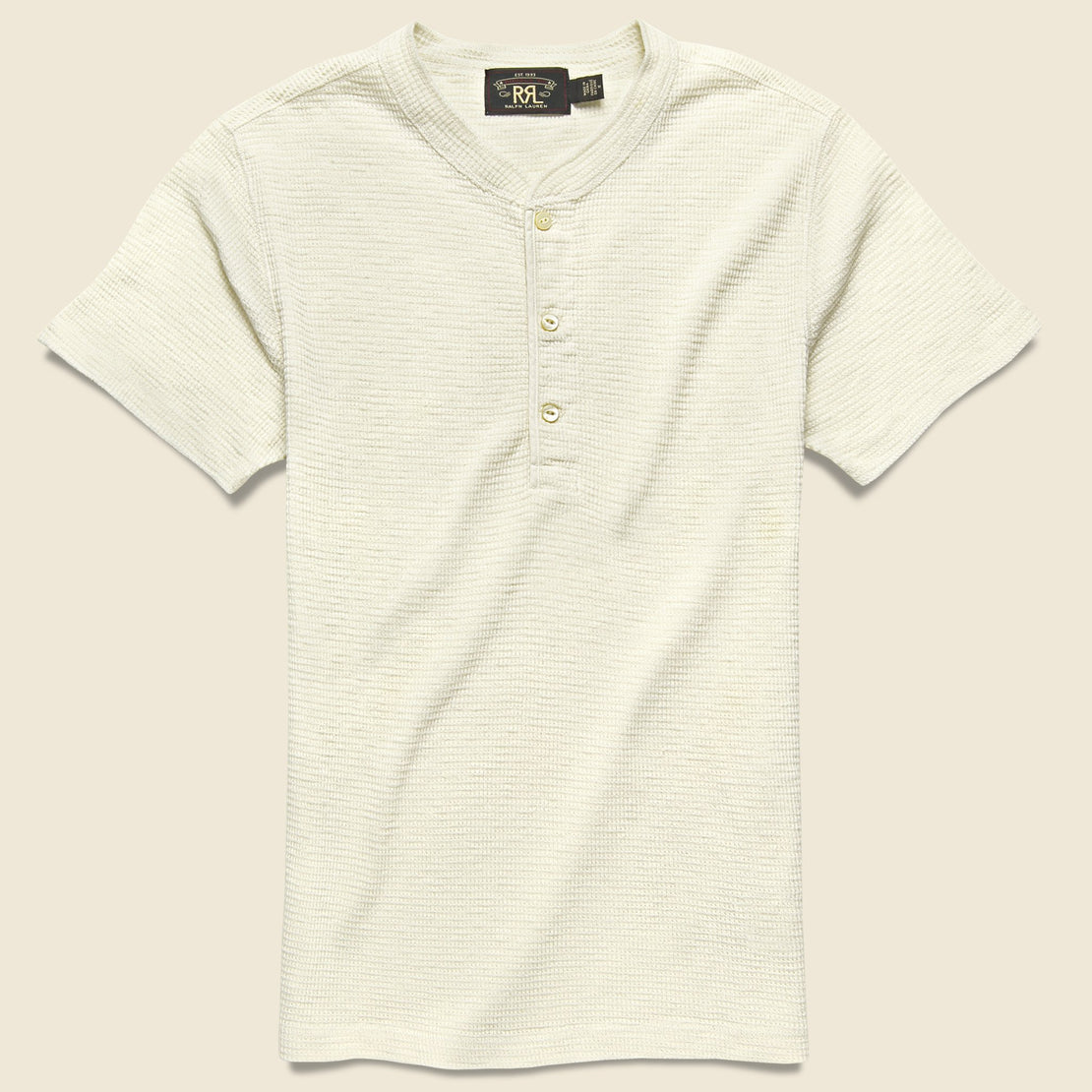 RRL Waffle Henley - Paper White