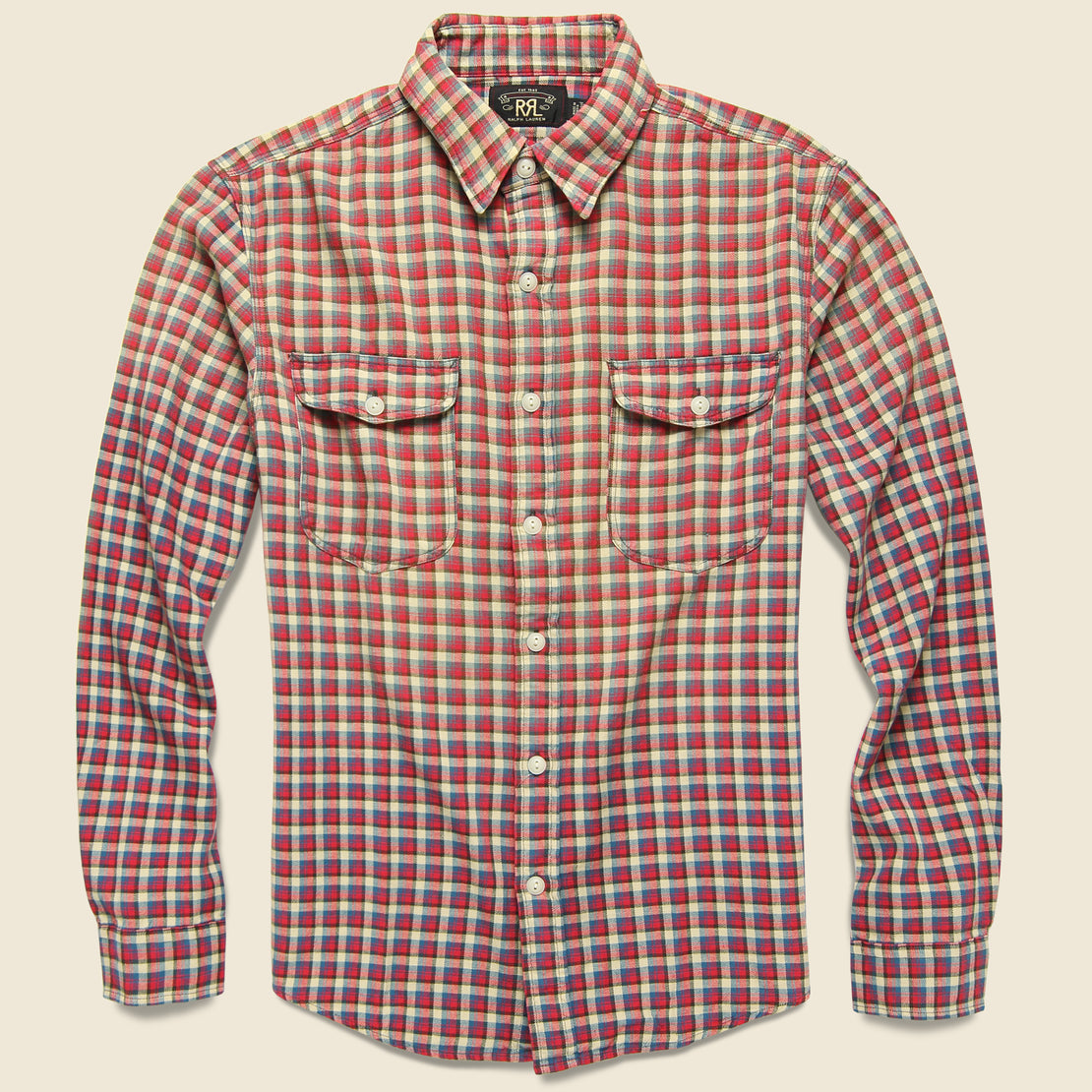 RRL Lee Workshirt - Red/Blue Plaid