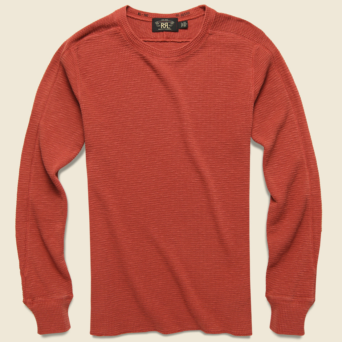 RRL Waffle Crewneck - Hastings Red