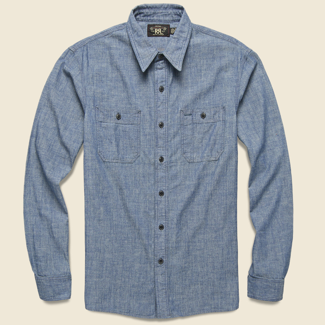 RRL Indigo Chambray Workshirt - Indigo Rinse