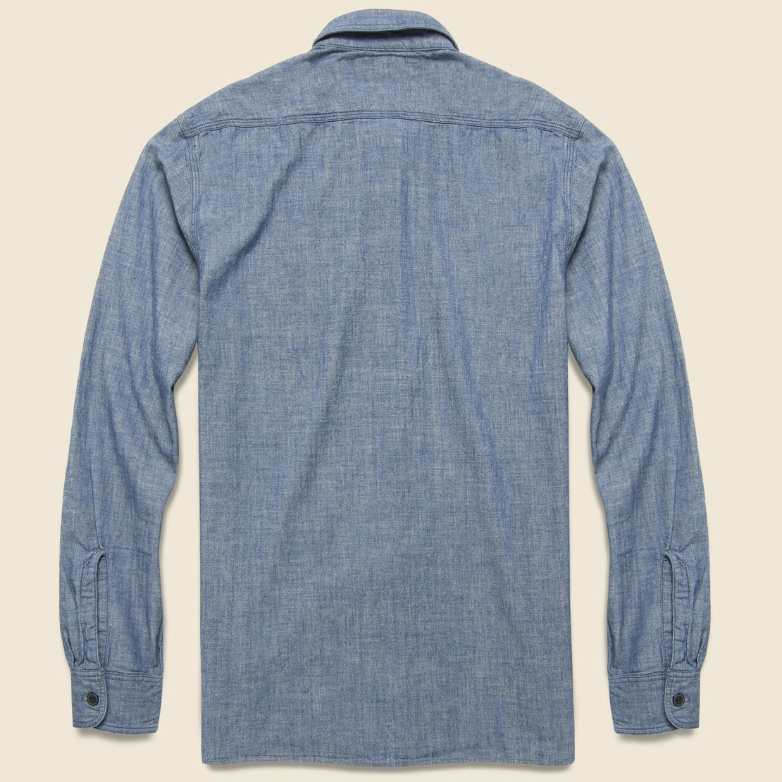 Indigo Chambray Workshirt - Indigo Rinse