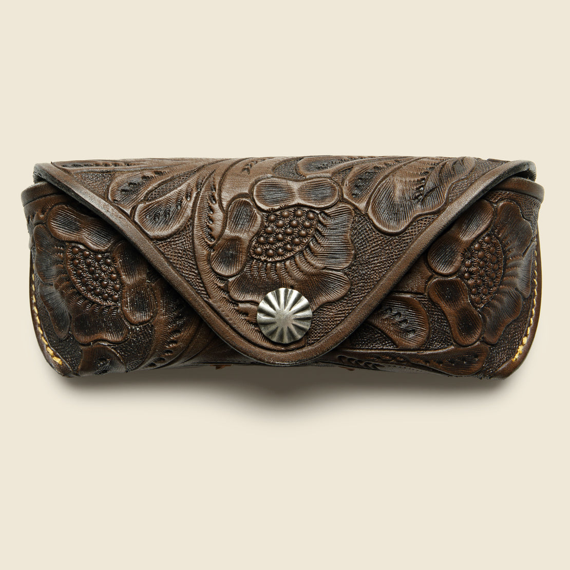 RRL Hand-Tooled Eyeglass Case - Brown