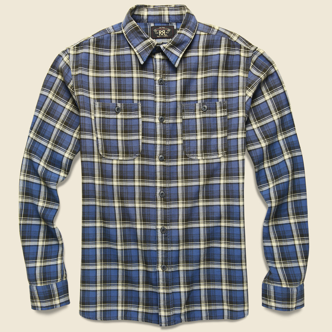 RRL Farrell Plaid Workshirt - Navy/Grey