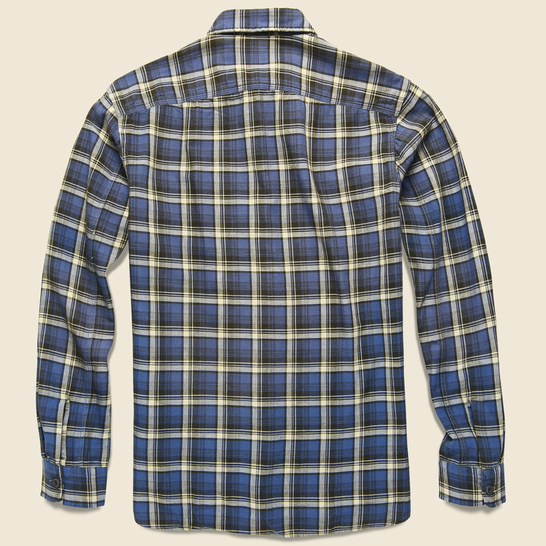 Farrell Plaid Workshirt - Navy/Grey