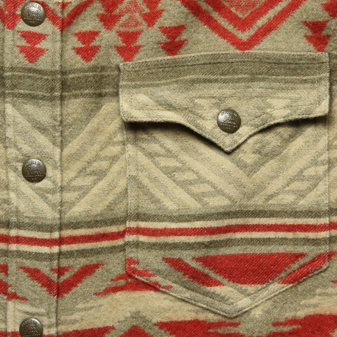 Marvel Beacon Jacquard Overshirt - Tan/Red