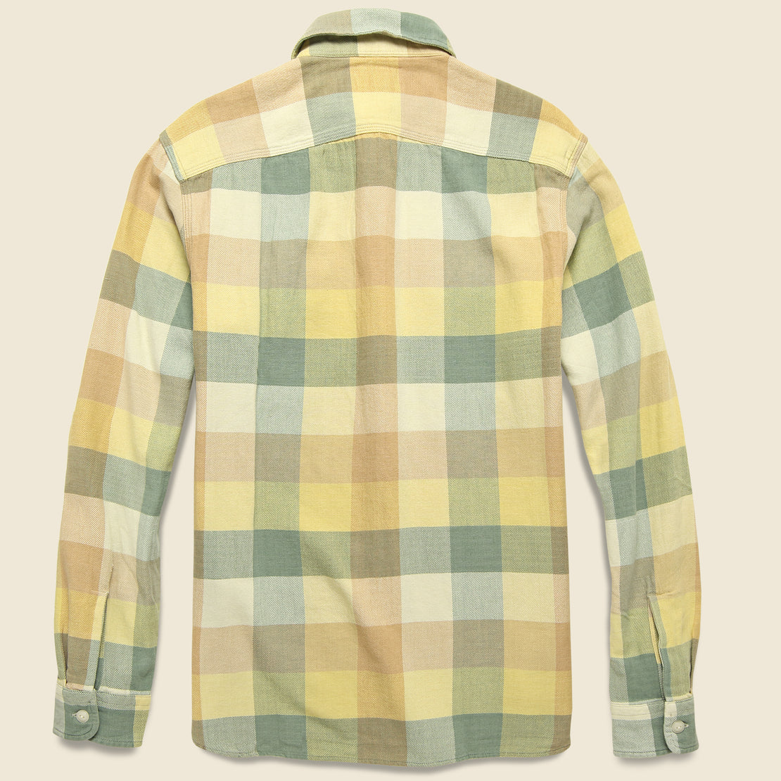 Matlock Twill Workshirt - Yellow/Green