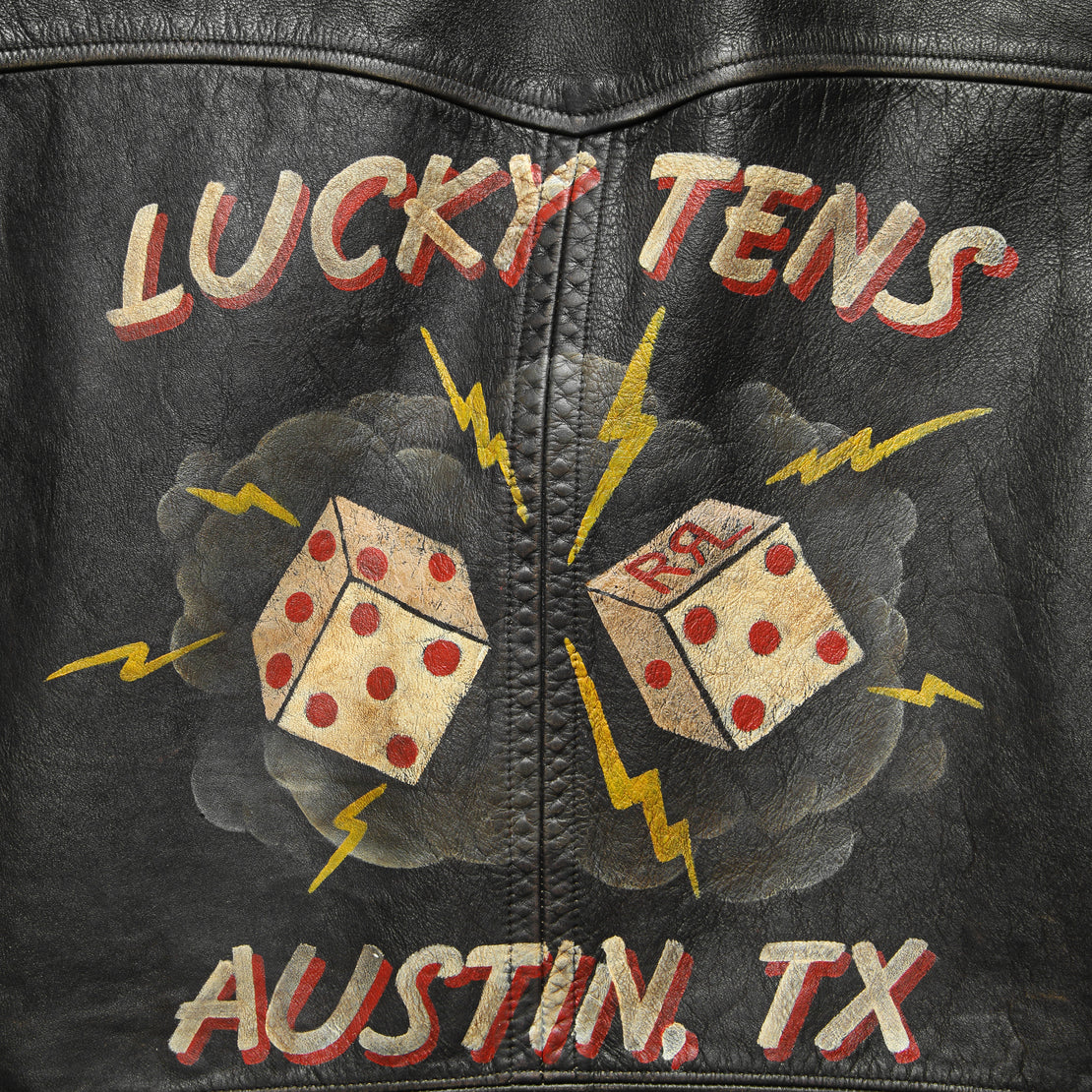 "The ""Lucky Tens"" Hand-Painted Leather Jacket for STAG"
