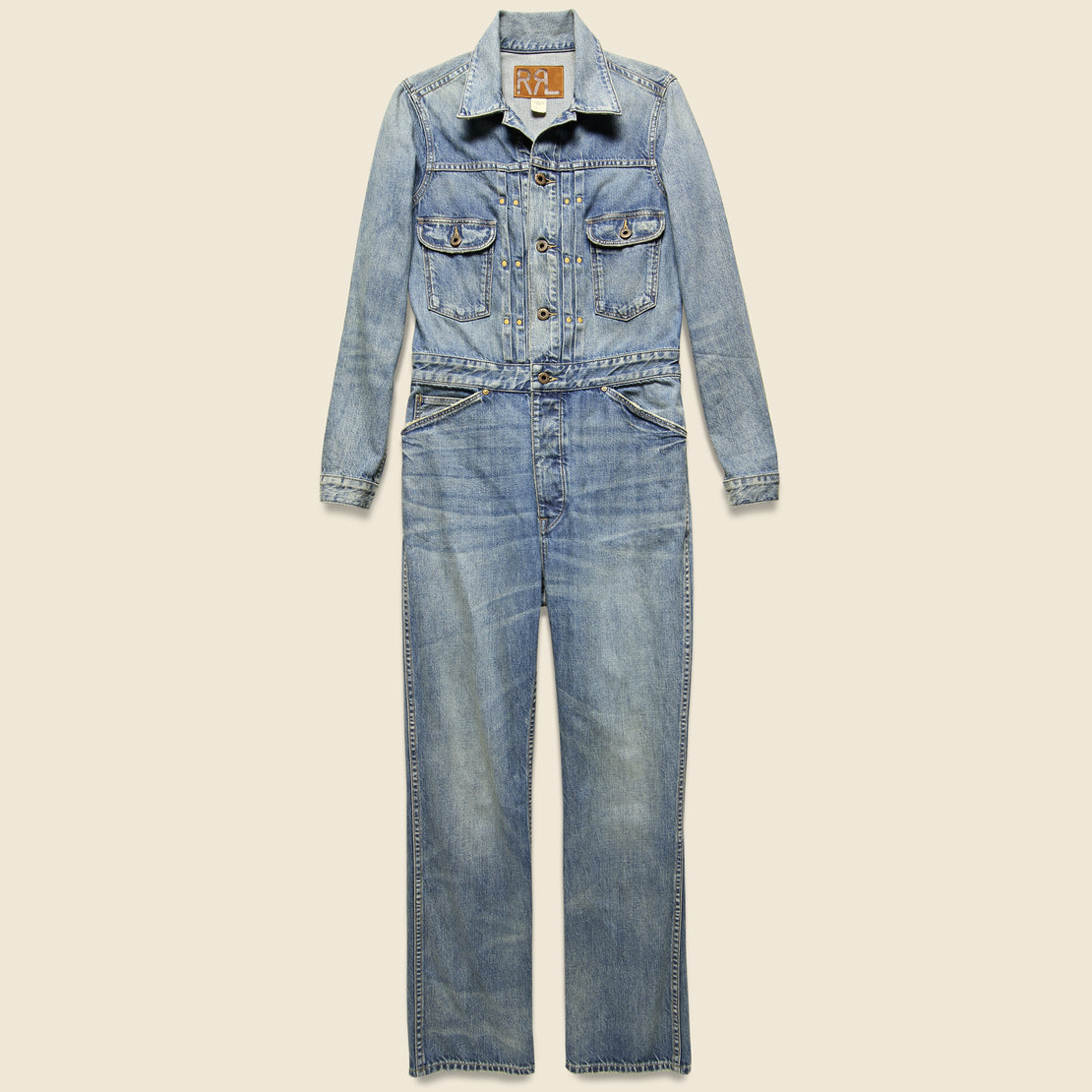 RRL Left-Hand Denim Coverall - Ellison Wash