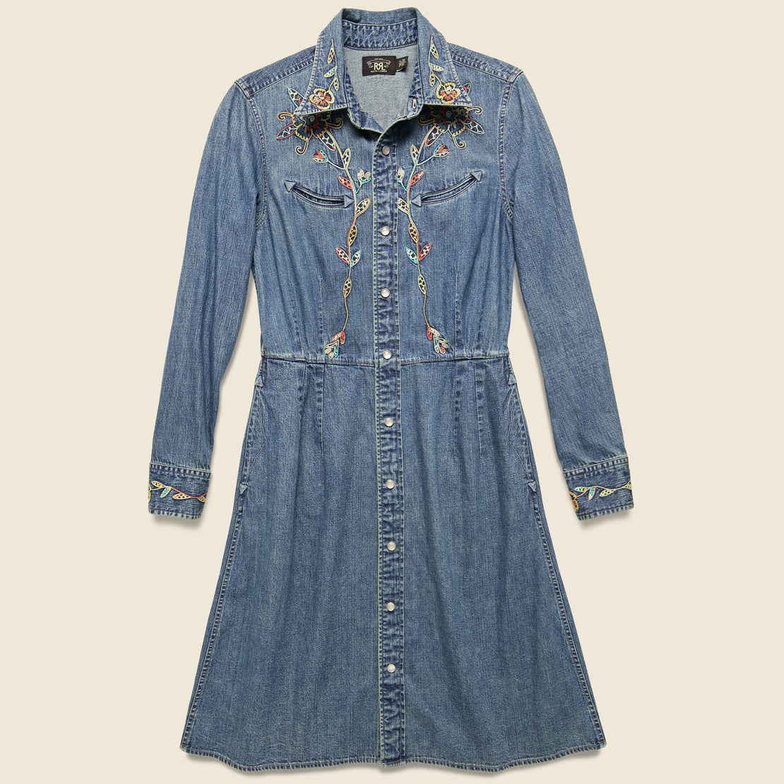 RRL Billie Western Embroidered Dress - Taryn Wash