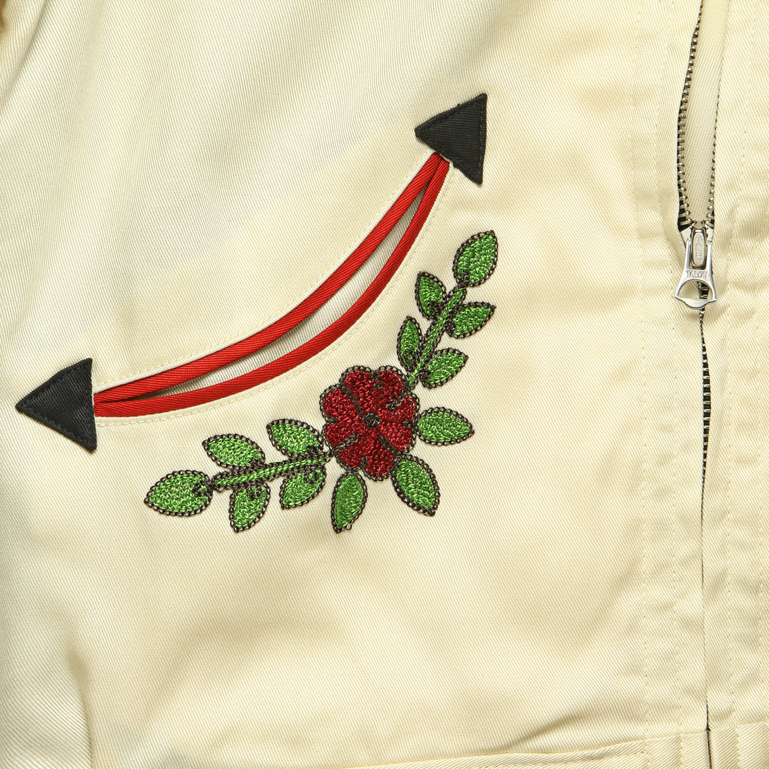 Embroidered Western Jacket - Black/Red/Cream