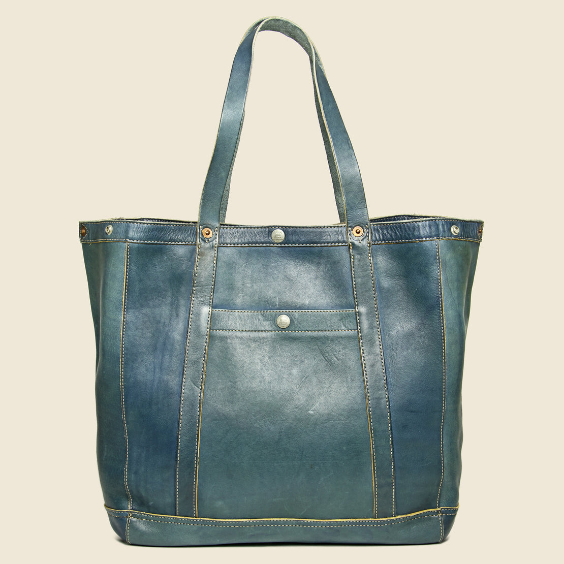 RRL Leather Harris Tote - Indigo Blue
