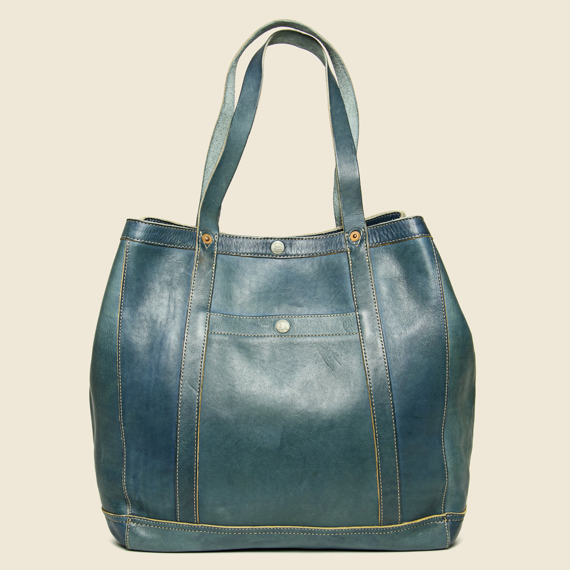 Leather Harris Tote - Indigo Blue