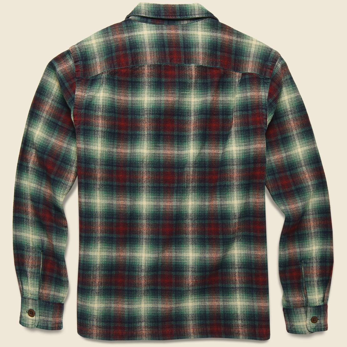 Tartan Flannel Overshirt - Red/Teal