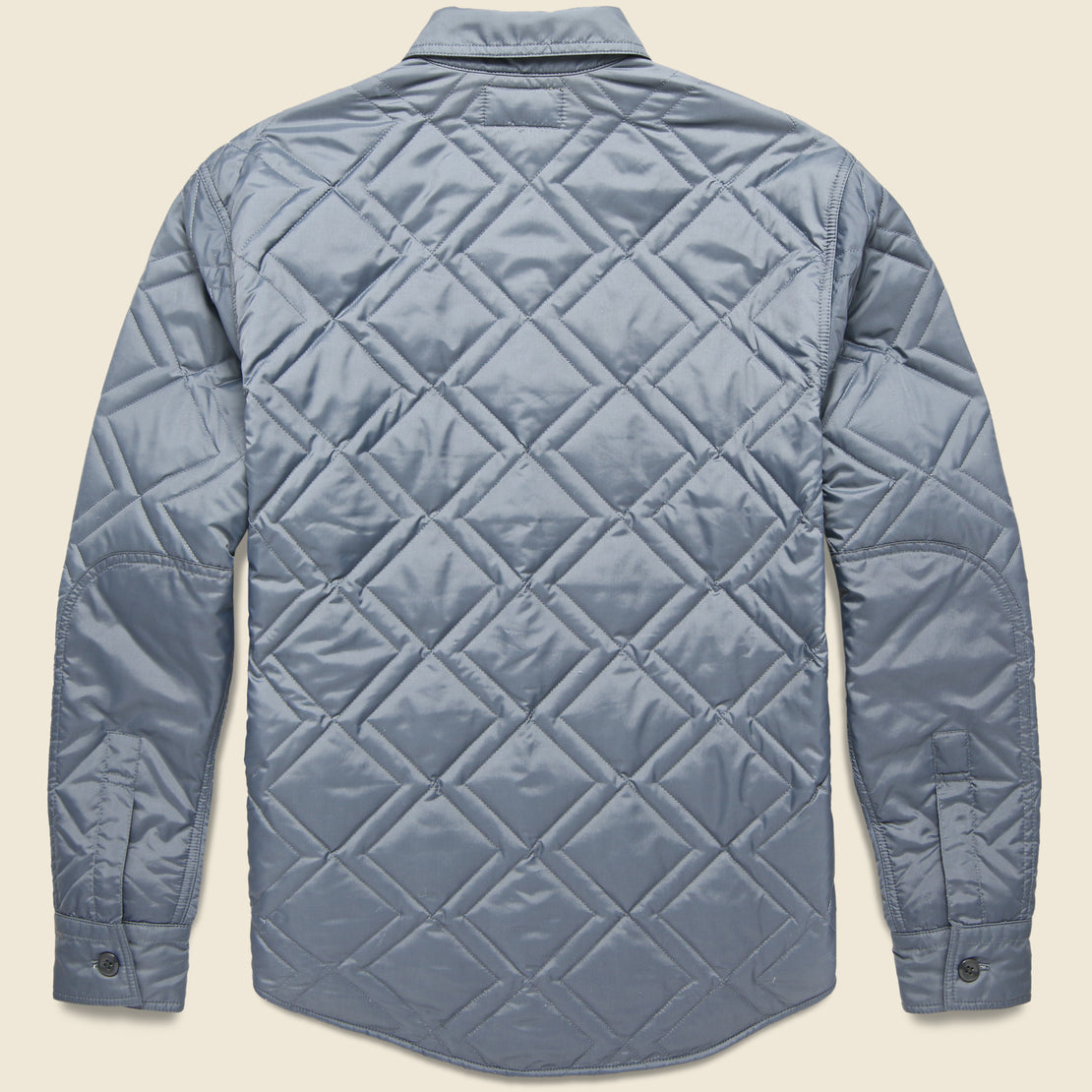 Holden Quilted CPO Overshirt - Steel Blue