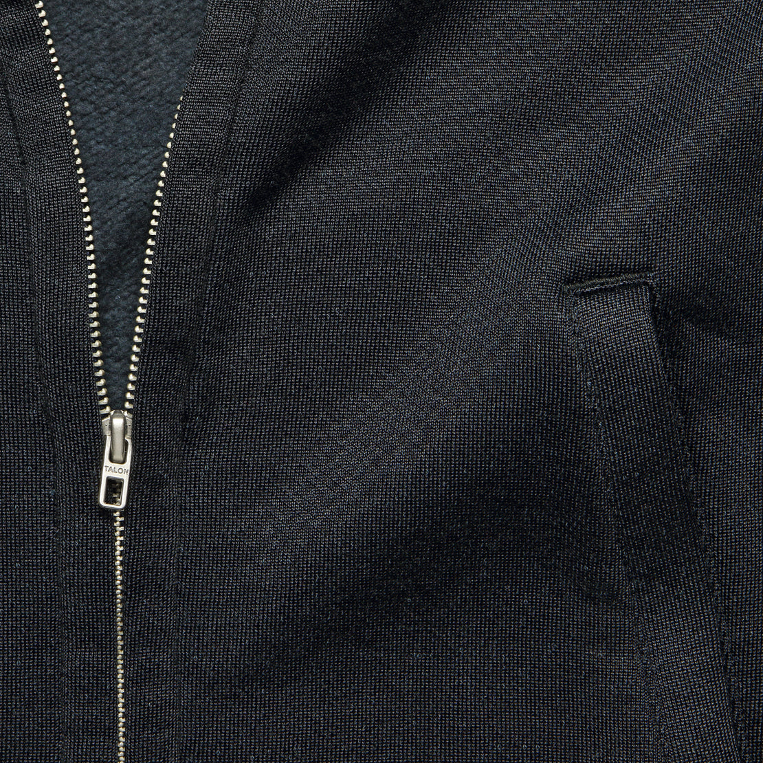 Fleece Baseball Jacket - Navy