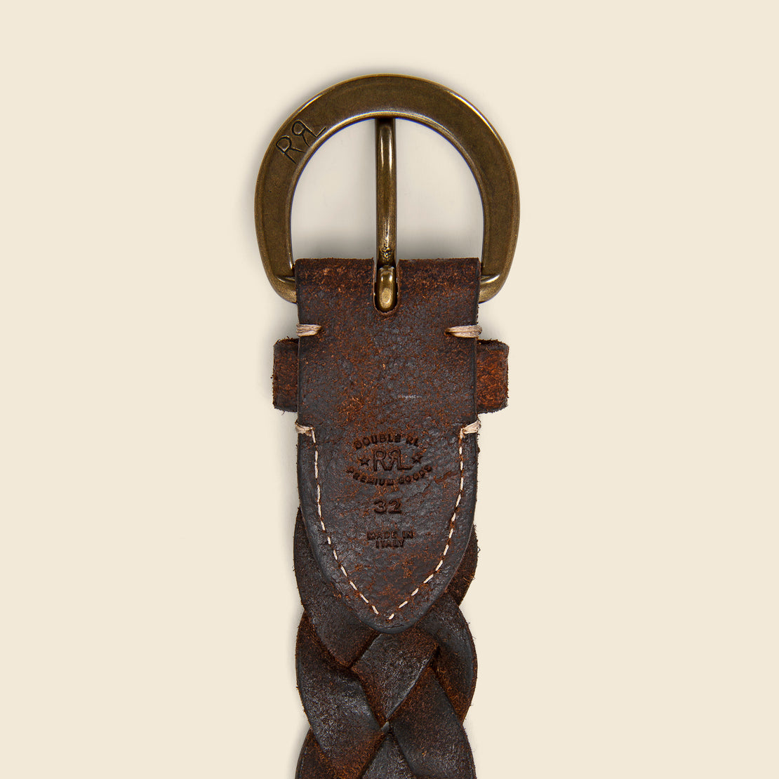 Hand-Braided Leather Belt - Tan