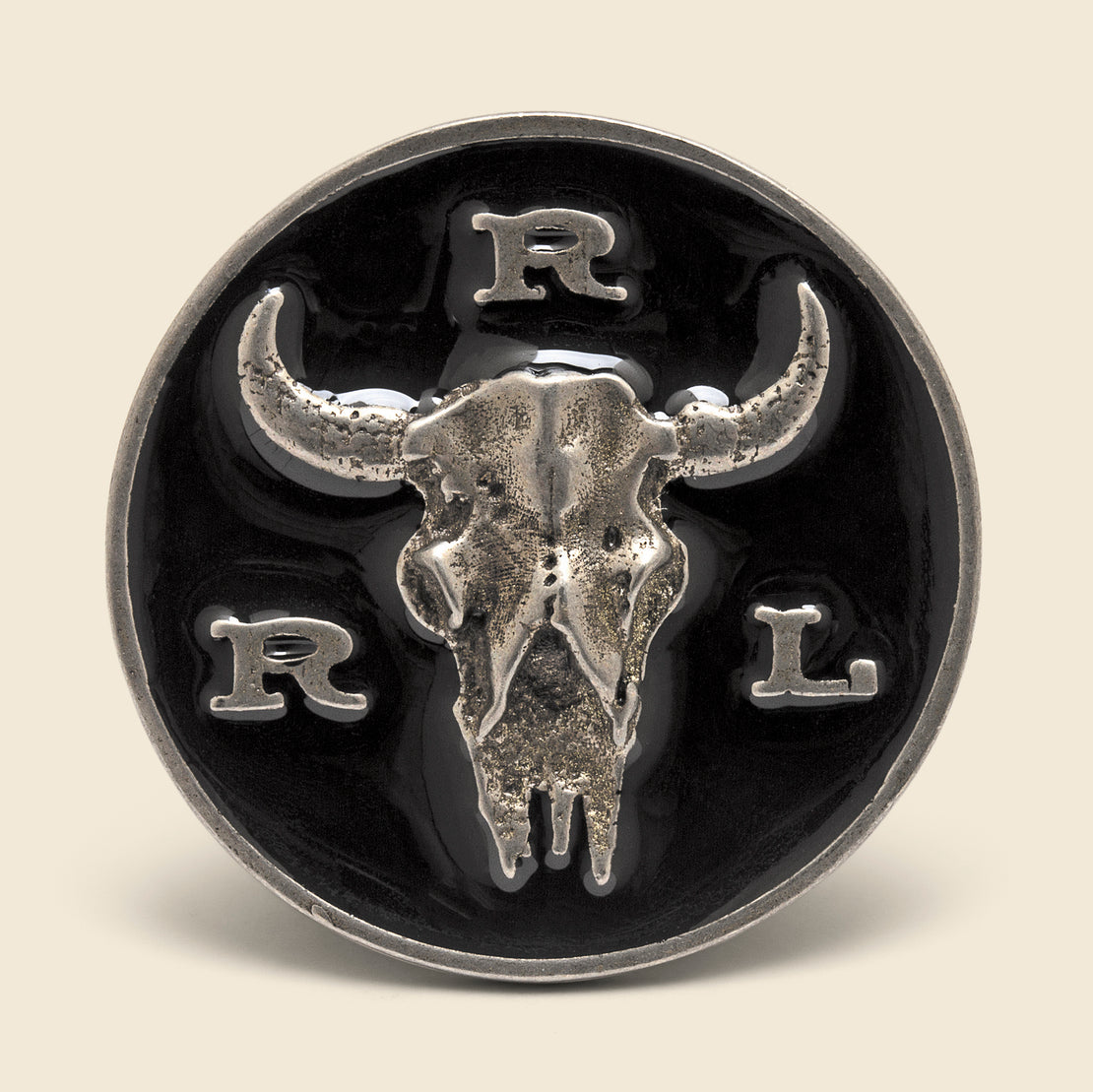 RRL Longhorn Pin - Black