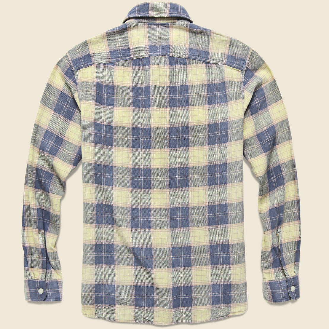 Matlock Plaid Twill Workshirt - Blue/Yellow