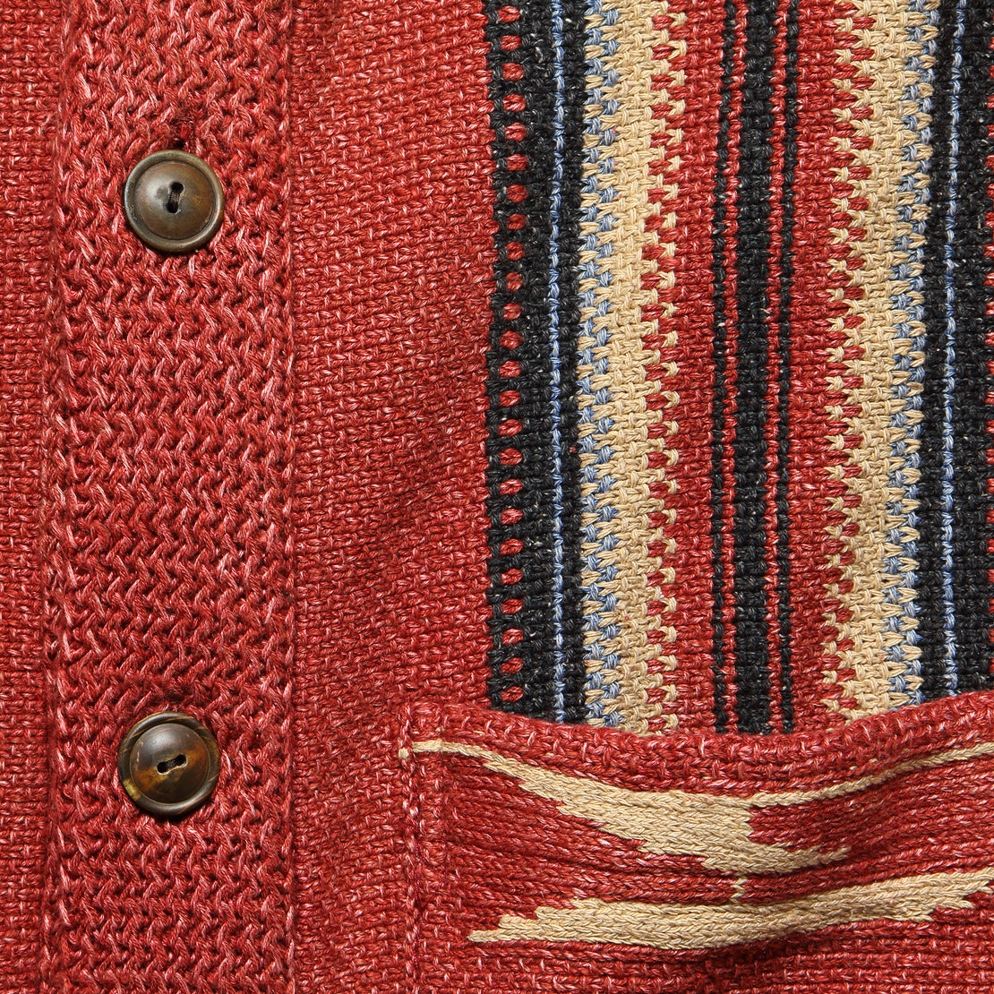 Chimayo Shawl Collar Cardigan - Faded Red
