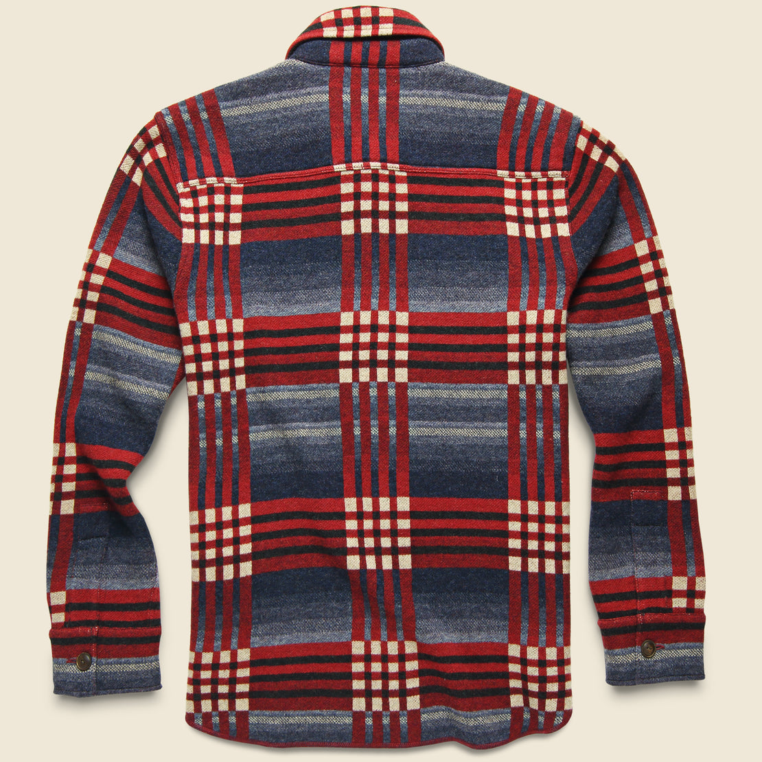 Birdseye Jacquard Workshirt - Red/Blue