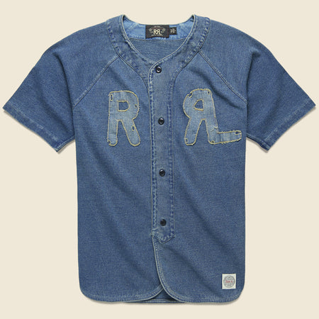 7f1a1353724 Indigo Baseball Jersey - Washed Blue