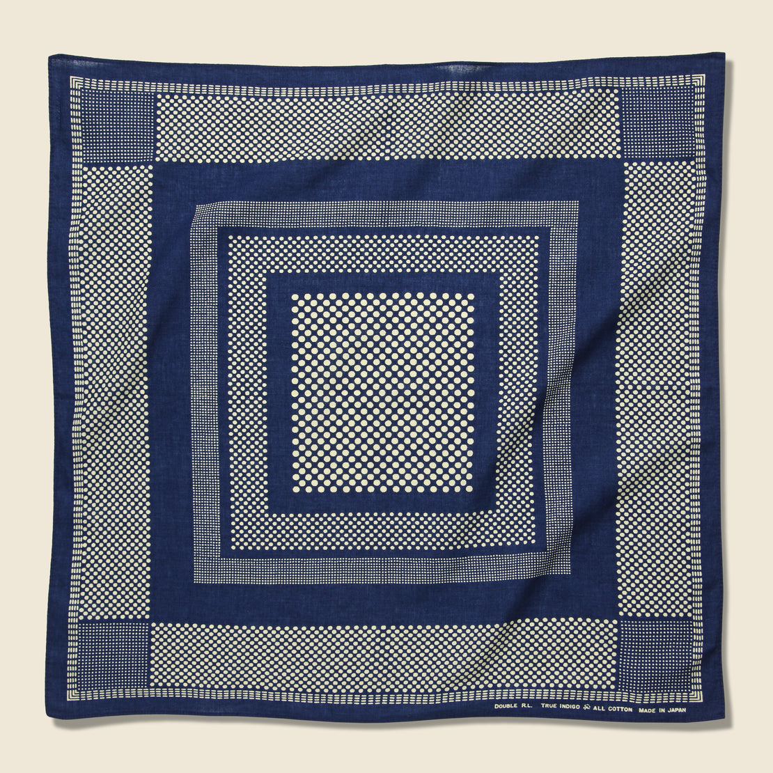 RRL Cotton Dot Print Bandana - Indigo