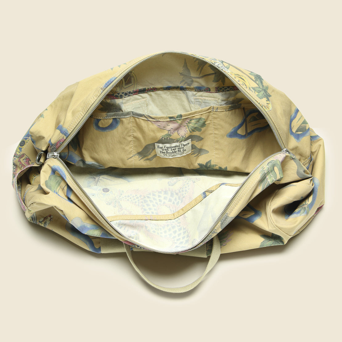 Souvenir Print Duffle Bag - Faded Khaki