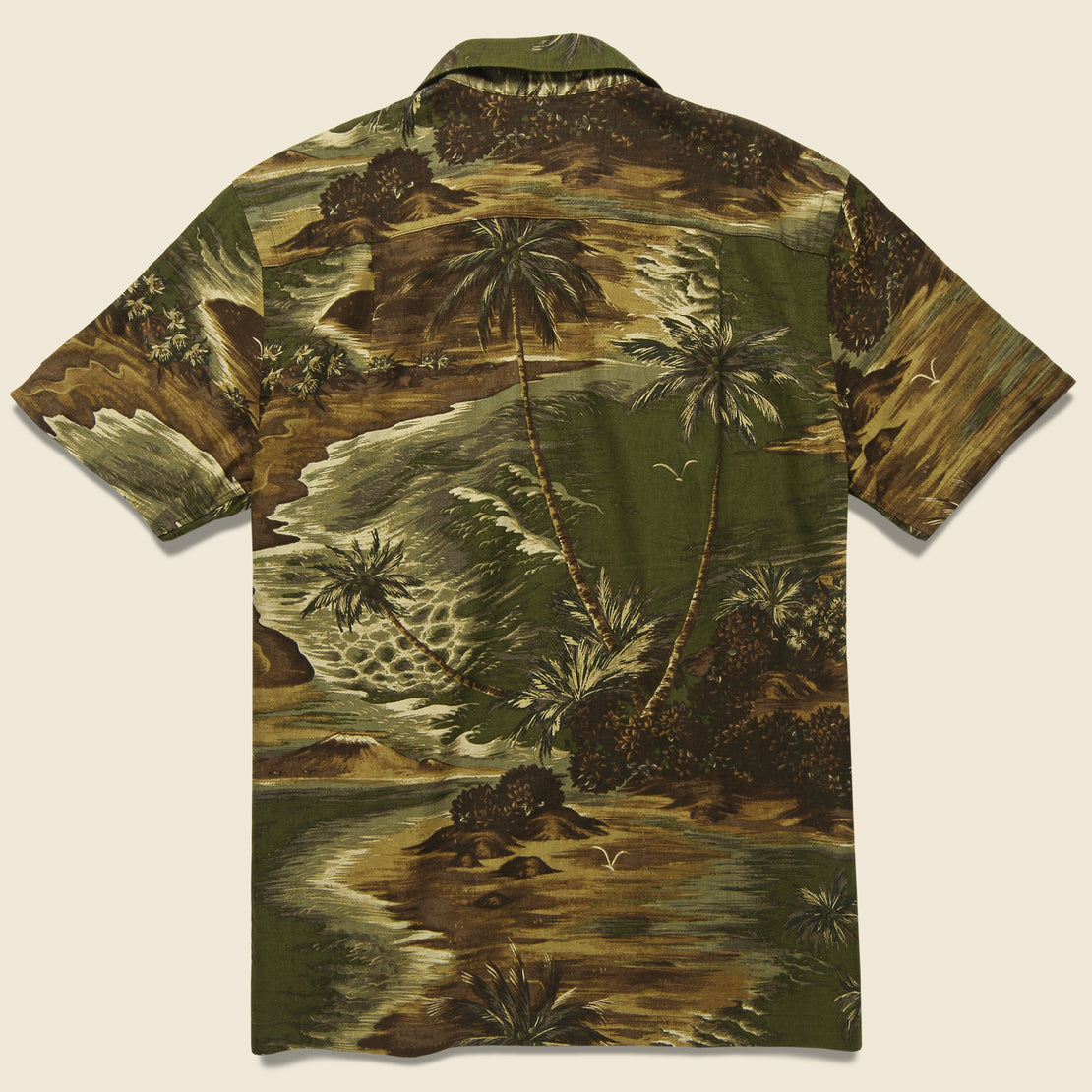 Aloha Camp Shirt - Olive Multi
